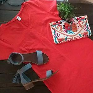 Old Navy Dresses - Old Navy Fitted T Shirt Dress Orange Size Large